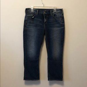 Silver jeans company Avery kick crop W 32/L 25